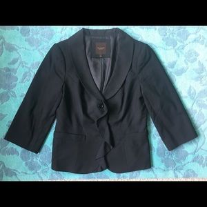 The Limited Brand 3/4 Sleeve Cropped Blazer